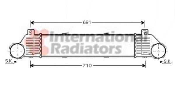 Intercooler, échangeur - VAN WEZEL - 30004353
