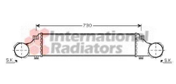Intercooler, échangeur - VAN WEZEL - 30004354