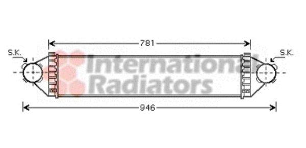Intercooler, échangeur - VAN WEZEL - 30004368