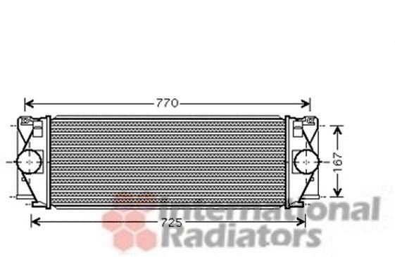 Intercooler, échangeur - VAN WEZEL - 30004396