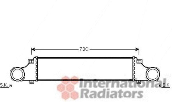 Intercooler, échangeur - VAN WEZEL - 30004410
