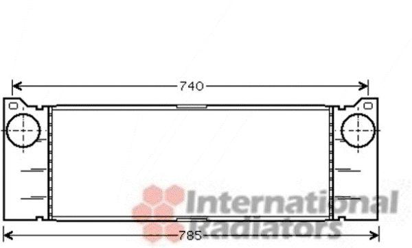 Intercooler, échangeur - VAN WEZEL - 30004473