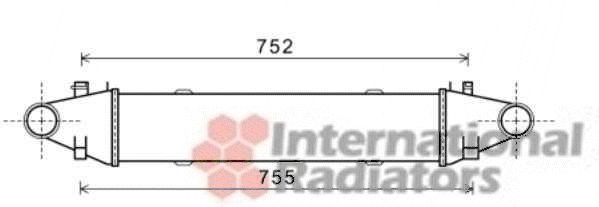 Intercooler, échangeur - VAN WEZEL - 30004525