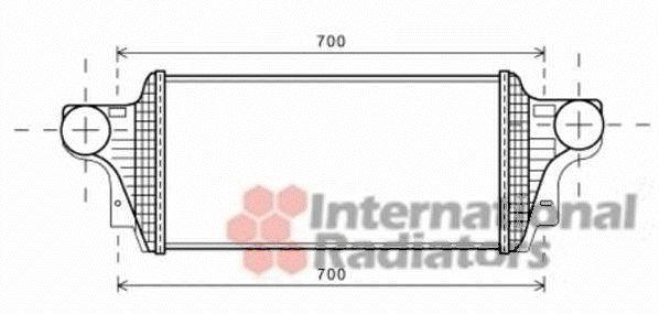 Intercooler, échangeur - VAN WEZEL - 30004549