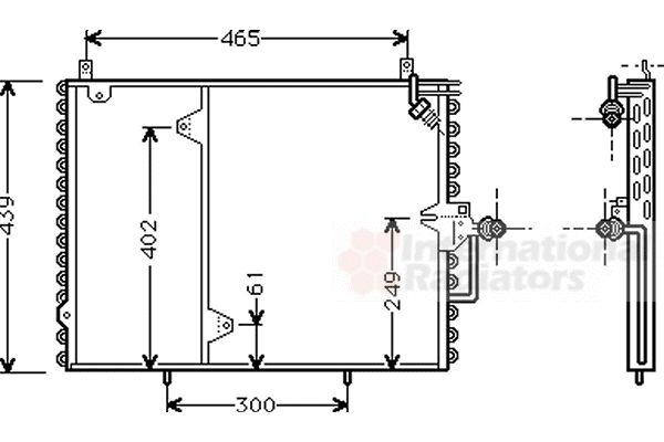 Condenseur, climatisation - VAN WEZEL - 30005160