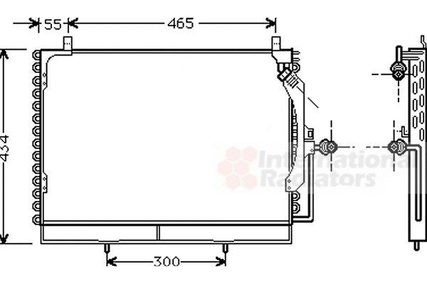 Condenseur, climatisation - VAN WEZEL - 30005161