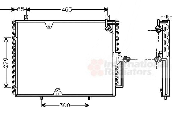 Condenseur, climatisation - VAN WEZEL - 30005170