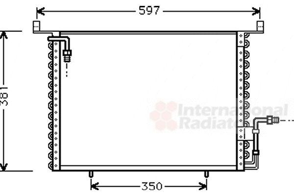 Condenseur, climatisation - VAN WEZEL - 30005194