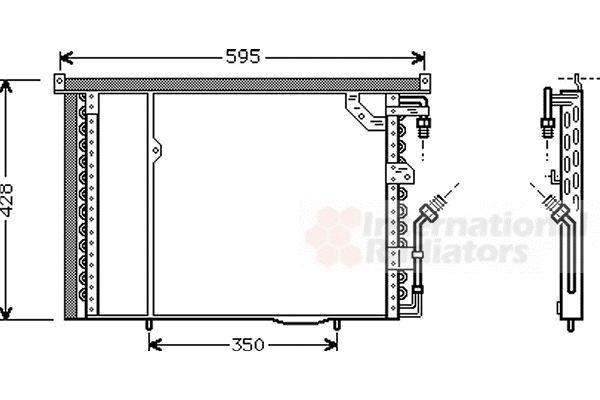 Condenseur, climatisation - VAN WEZEL - 30005195