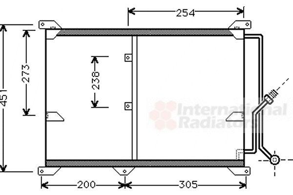 Condenseur, climatisation - VAN WEZEL - 30005197