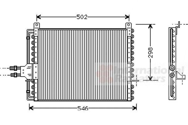 Condenseur, climatisation - VAN WEZEL - 30005205