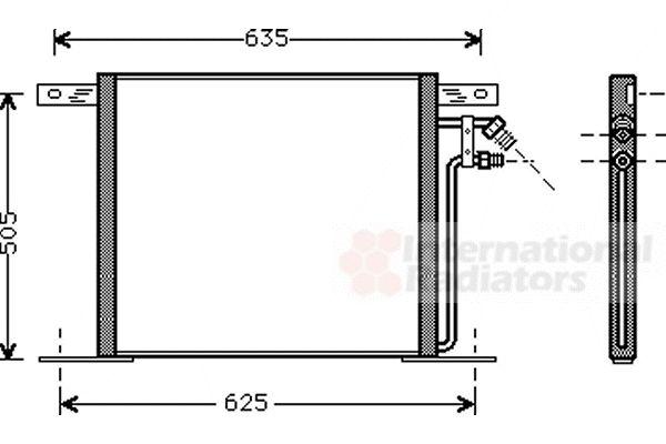 Condenseur, climatisation - VAN WEZEL - 30005220