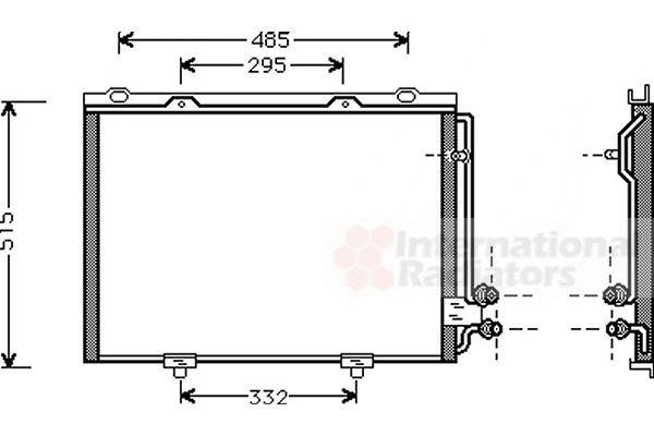 Condenseur, climatisation - VAN WEZEL - 30005232
