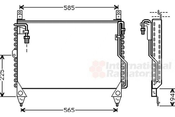 Condenseur, climatisation - VAN WEZEL - 30005242