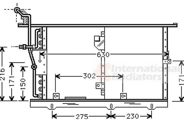 Condenseur, climatisation - VAN WEZEL - 30005244