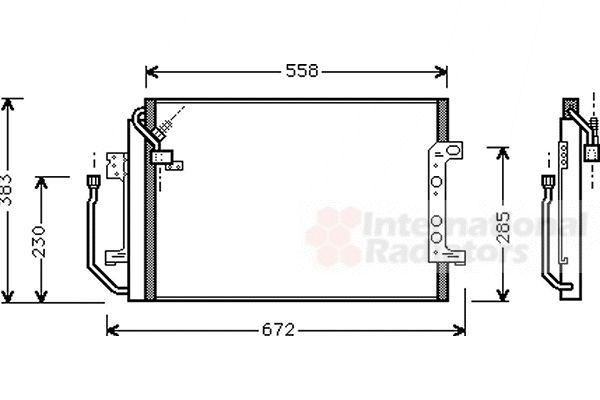 Condenseur, climatisation - VAN WEZEL - 30005257