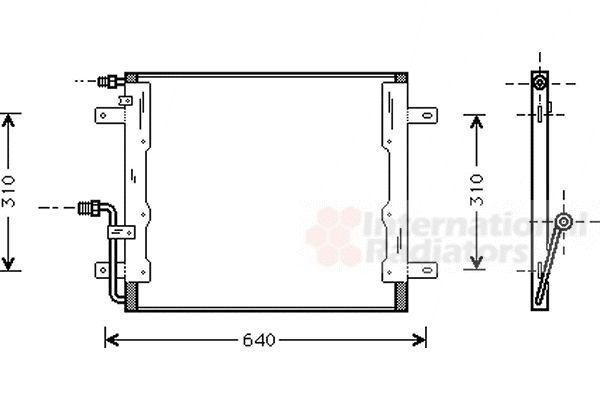 Condenseur, climatisation - VAN WEZEL - 30005262