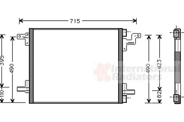 Condenseur, climatisation - VAN WEZEL - 30005270