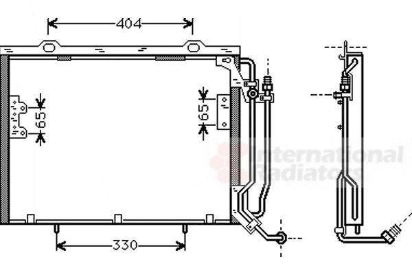 Condenseur, climatisation - VAN WEZEL - 30005279