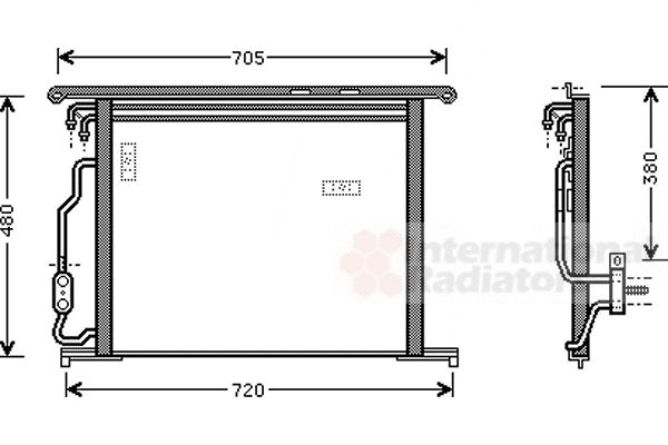 Condenseur, climatisation - VAN WEZEL - 30005280
