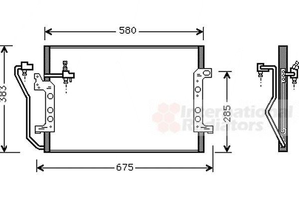 Condenseur, climatisation - VAN WEZEL - 30005289