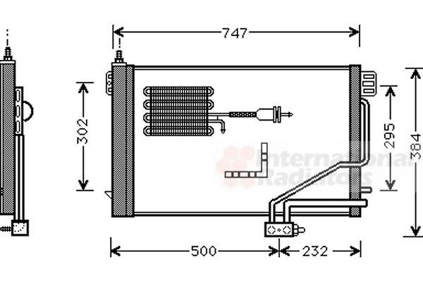 Condenseur, climatisation - VAN WEZEL - 30005298