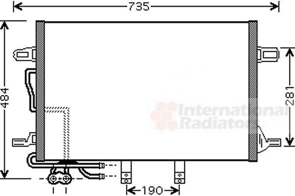 Condenseur, climatisation - VAN WEZEL - 30005307