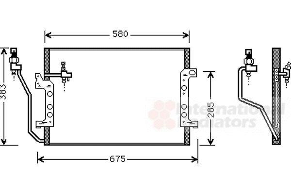 Condenseur, climatisation - VAN WEZEL - 30005330