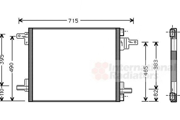 Condenseur, climatisation - VAN WEZEL - 30005345