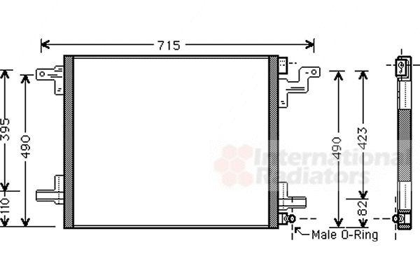 Condenseur, climatisation - VAN WEZEL - 30005377
