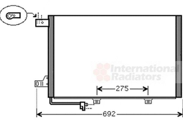 Condenseur, climatisation - VAN WEZEL - 30005386