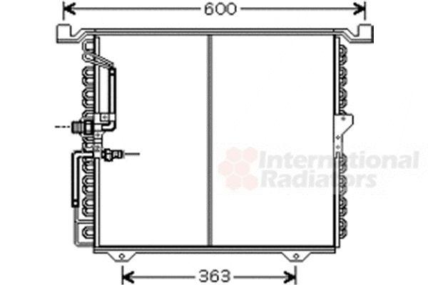 Condenseur, climatisation - VAN WEZEL - 30005388