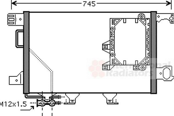 Condenseur, climatisation - VAN WEZEL - 30005391