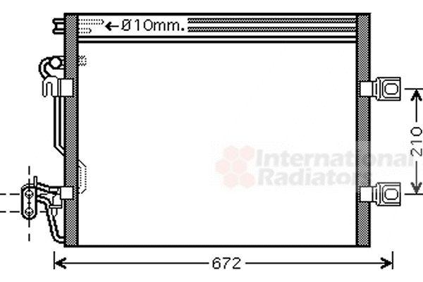 Condenseur, climatisation - VAN WEZEL - 30005392