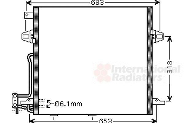 Condenseur, climatisation - VAN WEZEL - 30005406