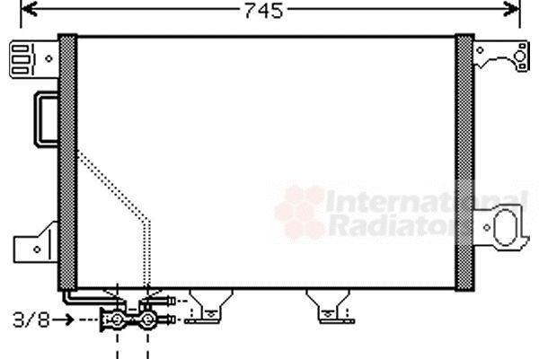 Condenseur, climatisation - VAN WEZEL - 30005435