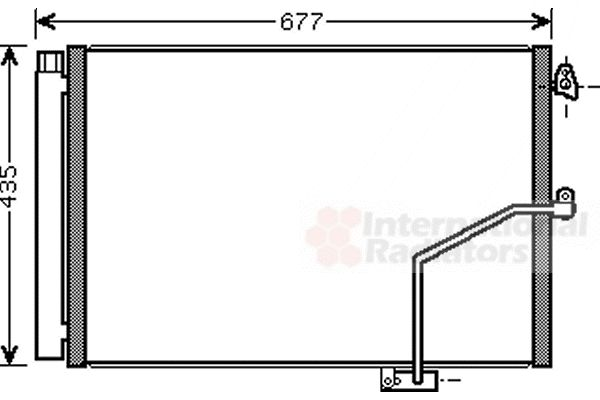 Condenseur, climatisation - VAN WEZEL - 30005450