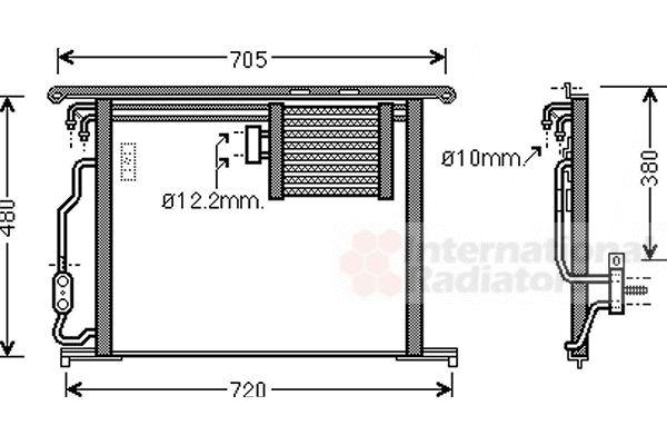Condenseur, climatisation - VAN WEZEL - 30005467