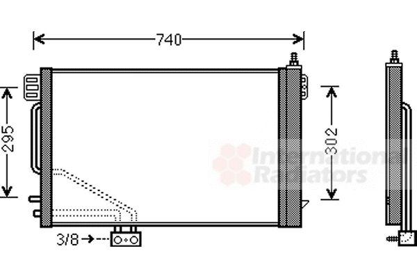 Condenseur, climatisation - VAN WEZEL - 30005493