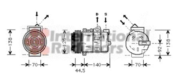 Compresseur, climatisation - VAN WEZEL - 3000K277