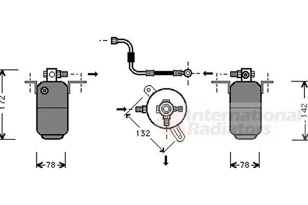 Filtre déshydratant, climatisation - VAN WEZEL - 3000D004