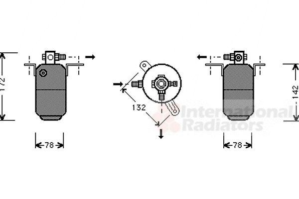 Filtre déshydratant, climatisation - VWA - 88VWA3000D005