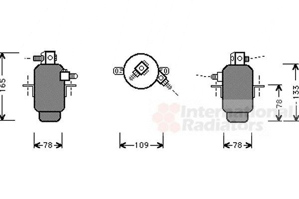 Filtre déshydratant, climatisation - VWA - 88VWA3000D006
