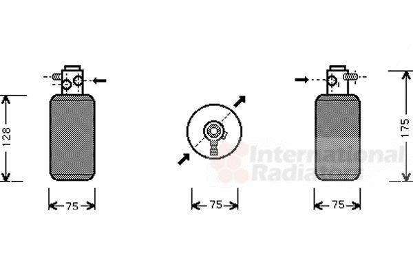 Filtre déshydratant, climatisation - VAN WEZEL - 3000D050
