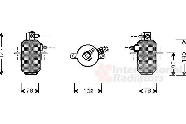 Filtre déshydratant, climatisation - VAN WEZEL - 3000D081