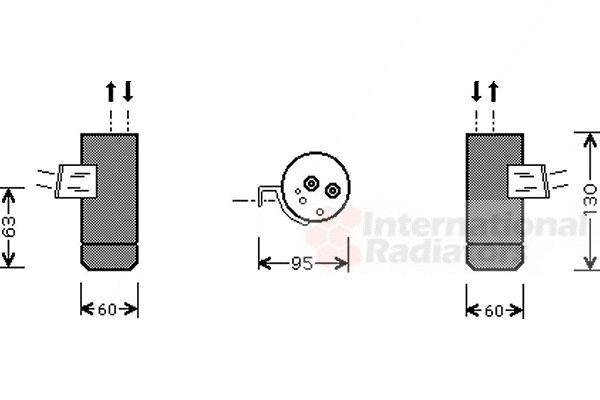 Filtre déshydratant, climatisation - VAN WEZEL - 3000D104