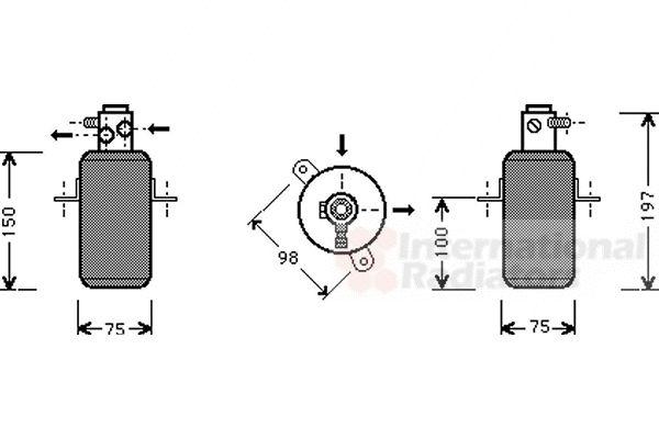 Filtre déshydratant, climatisation - VAN WEZEL - 3000D266