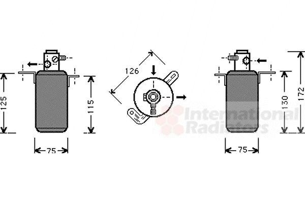 Filtre déshydratant, climatisation - VAN WEZEL - 3000D267