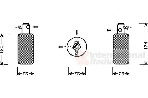 Filtre déshydratant, climatisation - VAN WEZEL - 3000D291