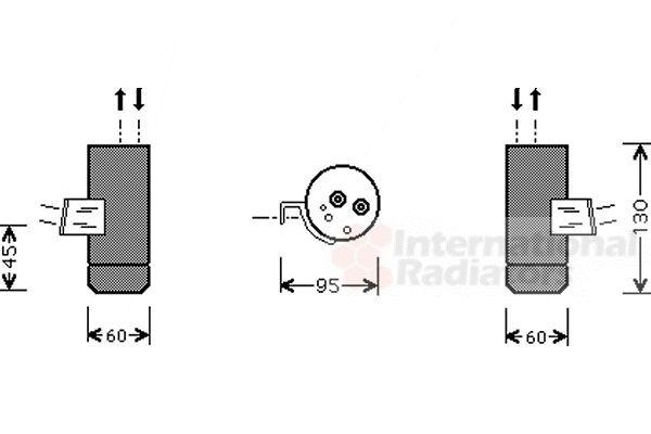 Filtre déshydratant, climatisation - VAN WEZEL - 3000D292